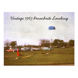 Carte postale d'atterrissage de parachute du cru