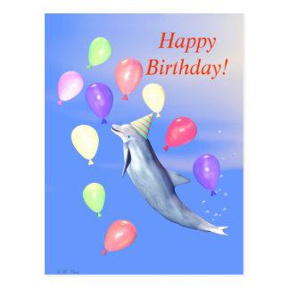 Carte Postale Dauphin de joyeux anniversaire