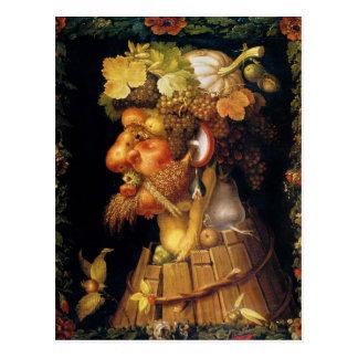 Carte postale d'automne d'Arcimboldo