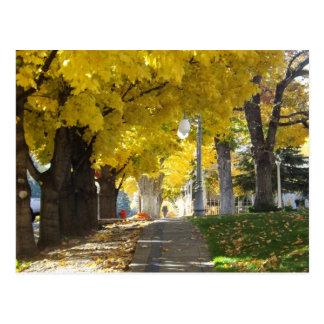 Carte postale d'auvent d'automne