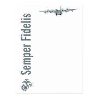 Carte postale d'aviation de l'usmc C-130