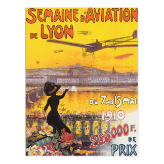 Carte Postale d'Aviation De Lyon de Semaine