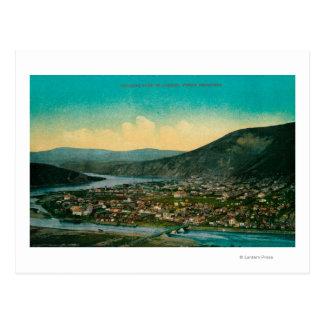 Carte Postale Dawson, vue de ville de territoire de l'Alaska le