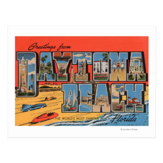 Carte Postale Daytona Beach, la Floride - grandes scènes de
