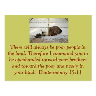 Carte postale de 15h11 de Deuteronomy