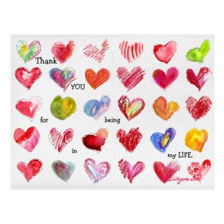 Carte postale de 30 de Merci coeurs de Valentine