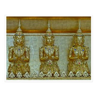Carte postale de 3 statues d'or