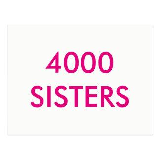 Carte postale de 4000 soeurs