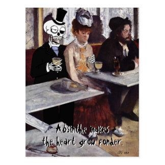 """Carte postale de """"absinthe (fait le coeur se"""