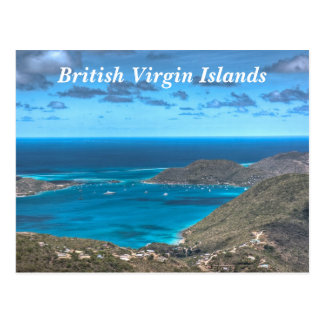Carte postale de baie des Îles Vierges britannique
