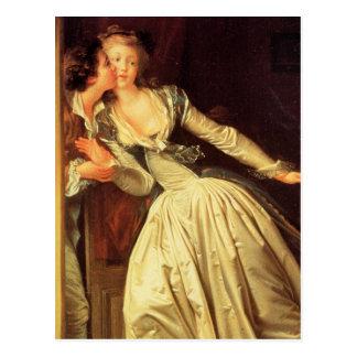 Carte postale de baiser volée par Fragonard