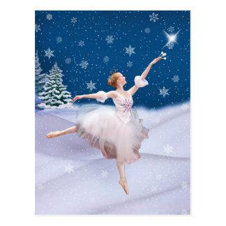 Carte postale de ballerine de la Reine de neige