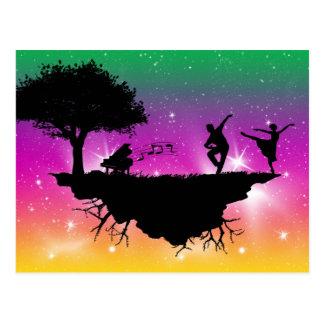 Carte postale de ballet de ciel