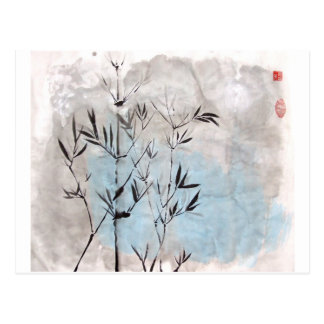 Carte postale de bambou de clair de lune