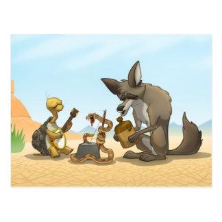 Carte postale de bande de cruche de désert