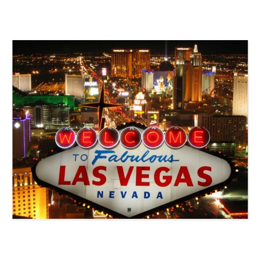 Carte postale de bande de Las Vegas