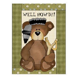 Carte postale de bande dessinée d'amusement d'ours