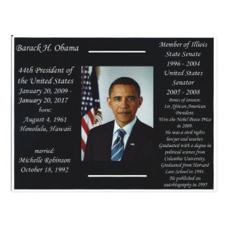 Carte postale de Barack Obama