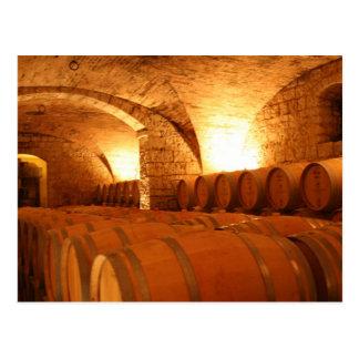 Carte postale de barils de vin