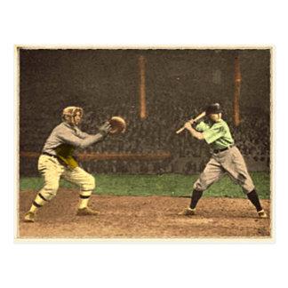 Carte postale de base-ball dans le style vintage
