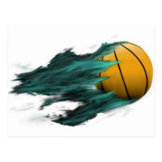 Carte postale de basket-ball du feu