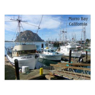 Carte postale de bateaux de pêche de baie de Morro