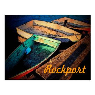 Carte postale de bateaux de Rockport