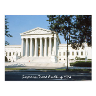 Carte postale de bâtiment de court suprême