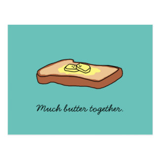 """Carte postale de """"beaucoup de beurre ensemble"""""""
