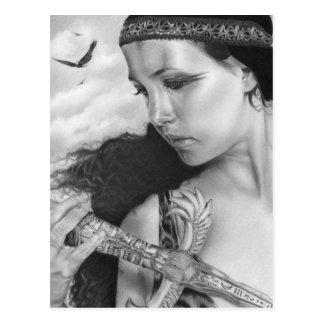 Carte postale de beauté de déesse de souvenirs