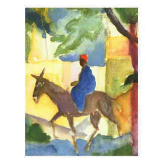 Carte postale de beaux-arts d'August Macke