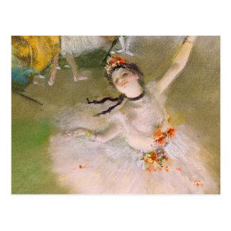 Carte postale de beaux-arts de ballerine d'Edgar