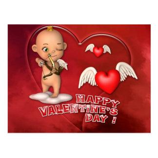 Carte postale de bébé de Toon de Saint Valentin