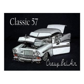 Carte postale de Bel Air de Chevy du classique 57