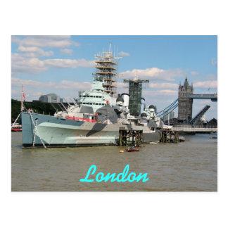 Carte postale de Belfast la Tamise Londres R-U de