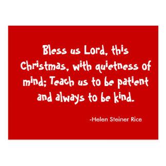Carte postale de bénédiction de Noël