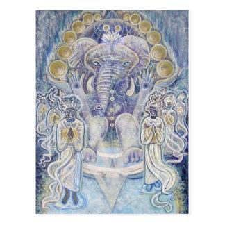 Carte postale de bénédiction de richesse de