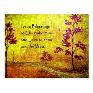 Carte postale de bénédictions