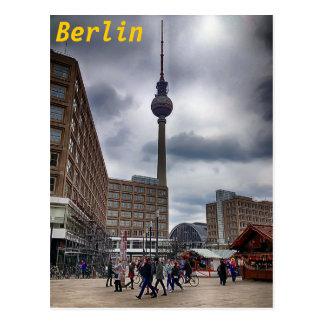 Carte postale de Berlin Alexanderplatz Fernsehturm