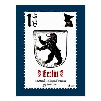 Carte postale de Berlin Briefmarke par conception