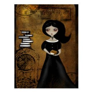 Carte postale de bibliophile de Steampunk