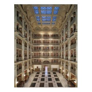 Carte postale de bibliothèque de George Peabody