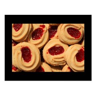 Carte postale de biscuits sablés de fraise