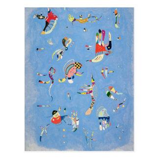 Carte postale de bleu de ciel de Kandinsky