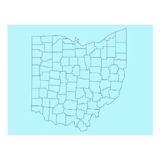 Carte postale de bleu des comtés de l'Ohio