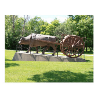 Carte postale de boeuf et de chariot de Redriver