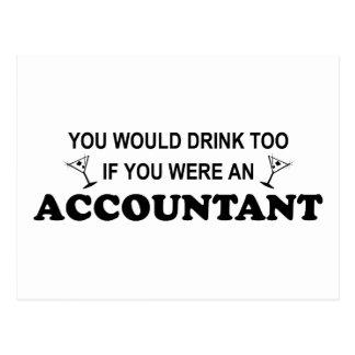 Carte Postale De boissons comptable trop -