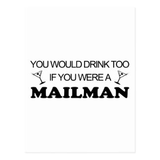 Carte Postale De boissons facteur trop -