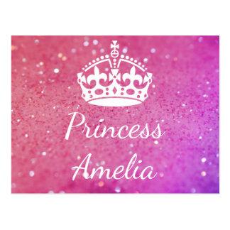 Carte postale de Bokeh de rose de princesse (votre