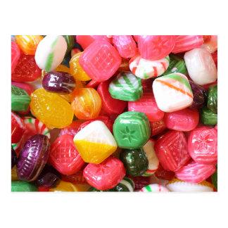 Carte postale de bonbons durs